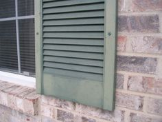 Bring Back Luster To Faded Vinyl Shutters By Using Using