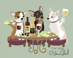 WINEing Chihuahua print