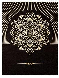 Entdecken und kaufen Sie Obey Lotus Diamond (Black & Gold) von Shepard Fairey bei fineartmultiple, dem führenden Online-Shop für moderne und zeitgenössische Kunst.