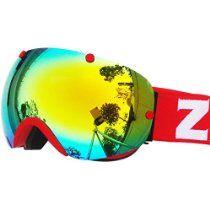 IceHacker Snowmobile Snowboard Skate Ski Goggles (Red Gold)