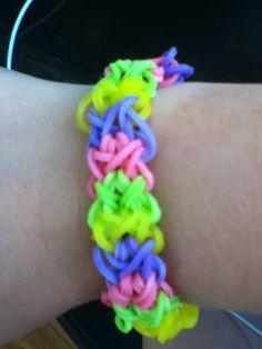 My rainbow loom bracelet!! :)