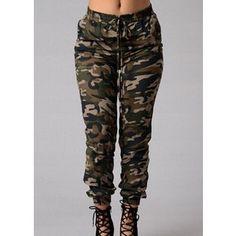Rotita Womens Camo Joggers Army Pants Military Pants Camo Combat Pants
