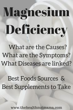 Magnesium Deficiency - The Health Nut Mama