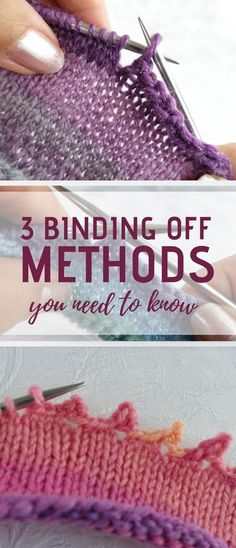 How to Bind Off In Knitting: Methods Every Knitter Needs To Know knitting for beginners knitting ideas knitting patterns knitting projects knitting sweater Bind Off Knitting, Loom Knitting, Knitting Stitches, Knitting Needles, Free Knitting, Knitting And Crocheting, Kids Knitting, Knitting Machine, Vintage Knitting