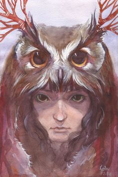 The Owl Girl by http://purplewaffle.deviantart.com/