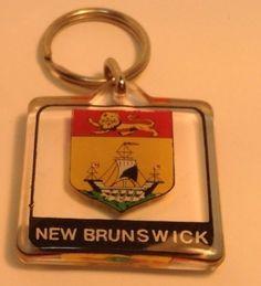 Colorful Square keychain NEW BRUNSWICK  Porte-Cles Carre NOUVEAU BRUNSWICK