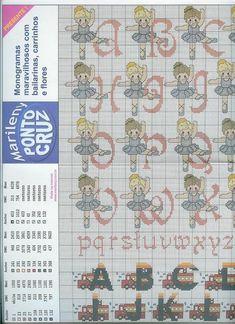 alphabet de danseur (1) - toutes-les-grilles.com grilles gratuites point de croix crochet tricot amigurumi Images Aléatoires, Alphabet, Ballet, Crochet, Monograms, Ballet Flats, Amigurumi, Flowers, Dancer