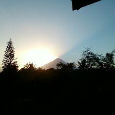 Sunrise from the merapi mountain