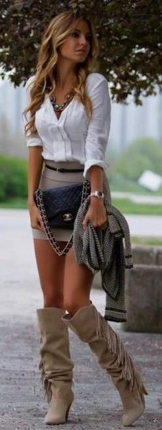 Adorable!!! Skirt & boots!