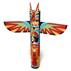 Pacific Northwest Native American Symbols | ... Models and Paper Toys: Pacific Northwest Style Totem Pole Papercraft