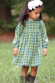 Snapdragon Dress PDF pattern for Knits Girls Knit by sewlikemymom