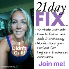 Autumn's 21 Day CARDIO Fix. DONE!  I feel amazing and I want to EVERYONE to feel that way.  If you are interested in getting healthy and fit, let's talk.  With me as your coach you get to join our private Facebook group where there are other FIX'ers and coaches ALL working together towards the same common goal...DON'T QUIT...GET FIT!  ‪#‎inspiringothers‬ ‪#‎health‬ ‪#‎21dayfix‬