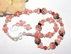 Flamingo II  Designer necklace and earrings OOAK by nancyfance