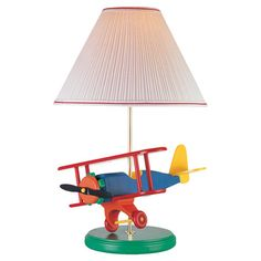 Found it at Wayfair - Toy Airplane Table Lamp