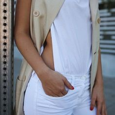 Love the sexy bodysuit/tshirt combo with the vest - Karla Deras from Karlas Closet always sexy!