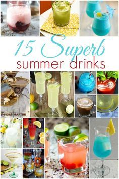 Planning a summer party? 15 Superb Summer Drinks your guests will love! #cocktails #summer #summervibes #drinks #drinking #alcohol #margarita #martini #mixeddrinks #recipe #recipes
