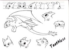 I Was Practicing Rotation And Expression For My Character Sheets Used Dreamworkss Toothless As An Existing Practice