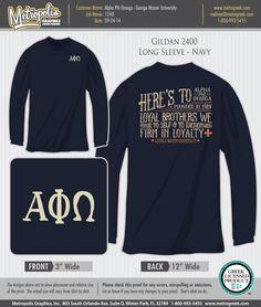 Alpha Phi Omega APO Tshirt - George Mason University