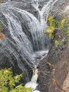potawatomi falls on black river, ironwood, michigan