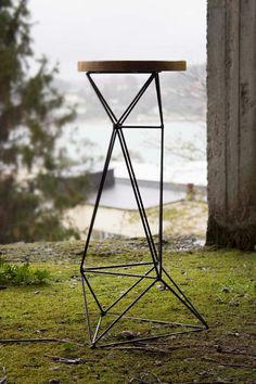 This bar stool has been the product of months of designing process. The inspiration and composition are coming from origami patters. As an architects and joiners we love to test our furniture and check their strength. Due the triangular structure the load is transfer nicely from the sit