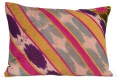 One Kings Lane - Vintage & Designer Picks - Vintage Ikat Pillow, Pink I