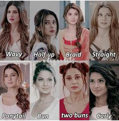 Girly Hairstyles, Hairstyles Haircuts, Bridal Hair Buns, Jennifer Winget Beyhadh, Ponytail Bun, Bridal Makeup Looks, Jennifer Love, Crazy Girls, Beautiful Indian Actress