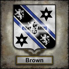 Brown Family Crest - English Coat of Arms (GB)