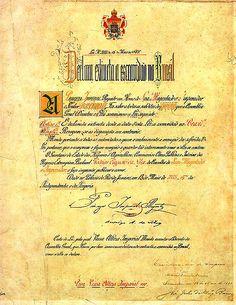 O  original da Lei Áurea, assinado em 1888 pela Princesa Izabel, então regente do Brasil. Esta lei aboliu a escravidão no Brasil.