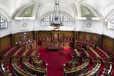 Islington Town Hall, London. Council Chamber, holds 100 people.