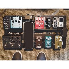 @musikmasta1364's epic pedal board. This board was clearly designed to make a guitar sing. So good!