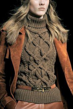sweetstroll: Salvatore Ferragamo: beautiful cable sweater
