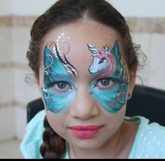 Unicorn butterfly face paint