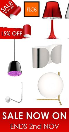 From the of Oct to the Nov all FLOS products are reduced by Don't miss this great offer! Online Lighting Stores, Competition, 18th, Link, Home Decor, Products, Decoration Home, Room Decor, Home Interior Design