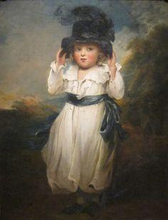 "Alicia Herbert, mint a gyermek ""John Hoppner, Cincinnati Art Museum. Vintage Illustration, Cincinnati Art, 18th Century Costume, 18th Century Fashion, Baby Portraits, Portrait Art, Beautiful Paintings, Vintage Children, Art Museum"