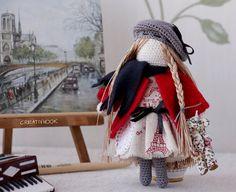 Crochet Doll/ Crocheted Handmade Doll/Crochet Doll by Creativhook ♥