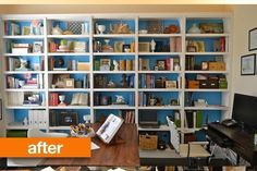 Before & After: A Small Office Gets Some Stunning Storage