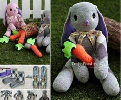 Lop Eared Easter Bunny Sock