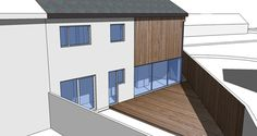 Unbuilt Contemporary, two storey extension to semi detached house, South Edinburgh by Capital A Architecture