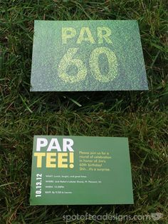 Jims Par Tee Invite - golf themed 60th birthday party