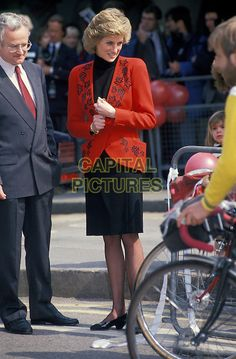 PRINCESS DIANA .charity bicycle event, Hyde Park.18th April 1989 London,