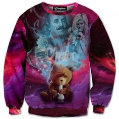 Who knew a teddy bear could smoke a bong  let a lone have thoughts at all  Your favorite Thunder Buddy is so high he s in another galaxy  Join your friend  Our full print crewneck sweatshirts are uniquely crafted using a special sublimation technique
