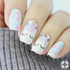 nails for kids cute unicorn / nails for kids + nails for kids cute + nails for kids easy + nails for kids cute short + nails for kids cute and easy + nails for kids acrylic + nails for kids gel + nails for kids cute unicorn Unicorn Nails Designs, Unicorn Nail Art, Unicorn Pics, Unicorn Horns, Unicorn Makeup, Aqua Nails, Diy Nails, Manicure Ideas, Nail Nail