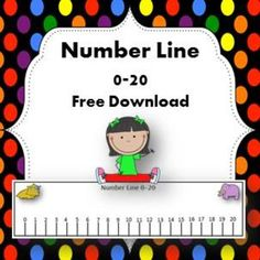 number line 0 to 20 Preschool Math, Math Classroom, Kindergarten Activities, Teaching Math, Maths, Teaching Ideas, Number Line Activities, Math Games, Fraction Activities