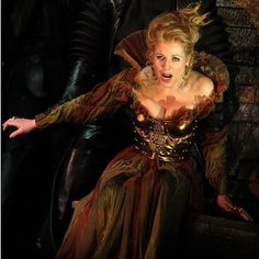 "Superbowl Singer: Renee Fleming, Opera Singer. Fleming in the production ""Lucrezia Borgia."""
