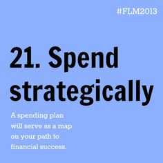 Day 21 // Financial Literacy Month // Document your spending #FLM2013