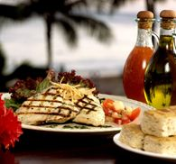 Nothing better than a great meal at the Hula Grill with your feet in the Ka'anapali sand.