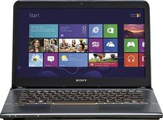 "Sony - VAIO 14"" Touch-Screen Laptop - 8GB Memory - 1TB Hard Drive - Gunmetal/Vintage Gold - SVE14A27CXH - Best Buy"