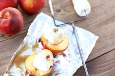 A Camping Treat: Summertime Peach Smores