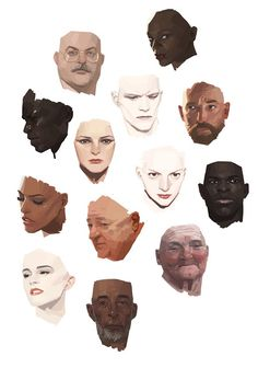 by jung wook choi Digital Painting Tutorials, Digital Art Tutorial, Art Tutorials, Art And Illustration, Character Illustration, Art Illustrations, Art Sketches, Art Drawings, Drawing Faces