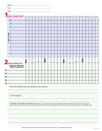 pain diary worksheet make copies date fill out daily place in a
